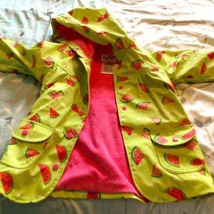 Hatley girls watermelon raincoat